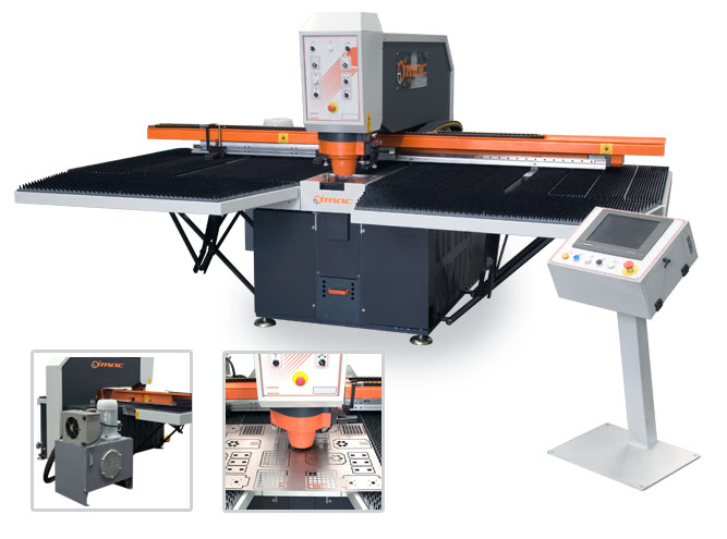 Masini de stantat perforat table Masina CNC de stantat si perforat table HP S 1250x 2500 DR